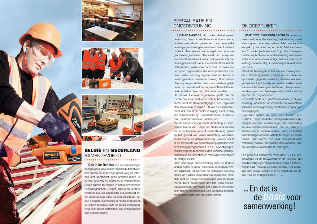 Bedrijfsfolder Spit/Paslode - Binnenwerk